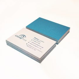 Colorplan Luxury Business Card. Blue