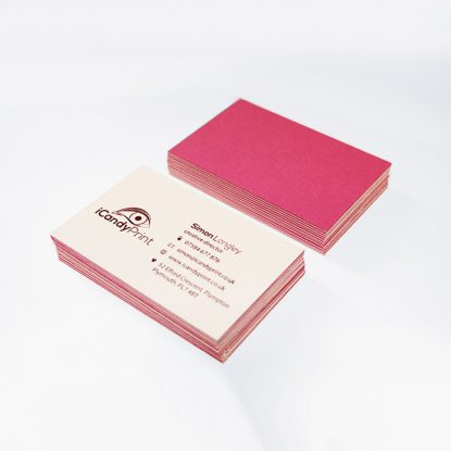 Colorplan Luxury Business Card. Magenta
