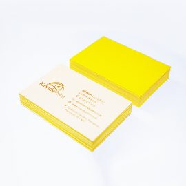 Colorplan Luxury Business Card. Yellow